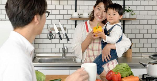 キッチンも家族共有の場に